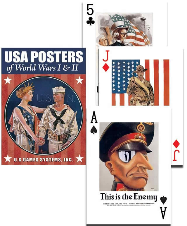 Posters of WWI & WWII Playing Cards